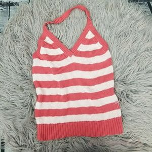 Old Navy Halter Sweater Pink Red Tank Top XL